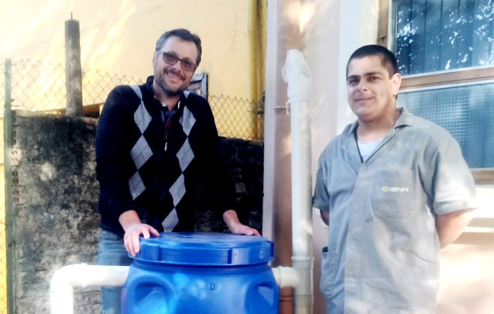Cisterna para recolhimento da água da chuva é instalada no Pindorama