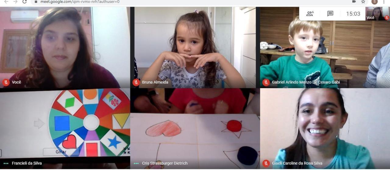 Crianças da Educação Infantil da IENH trabalham as formas geométricas