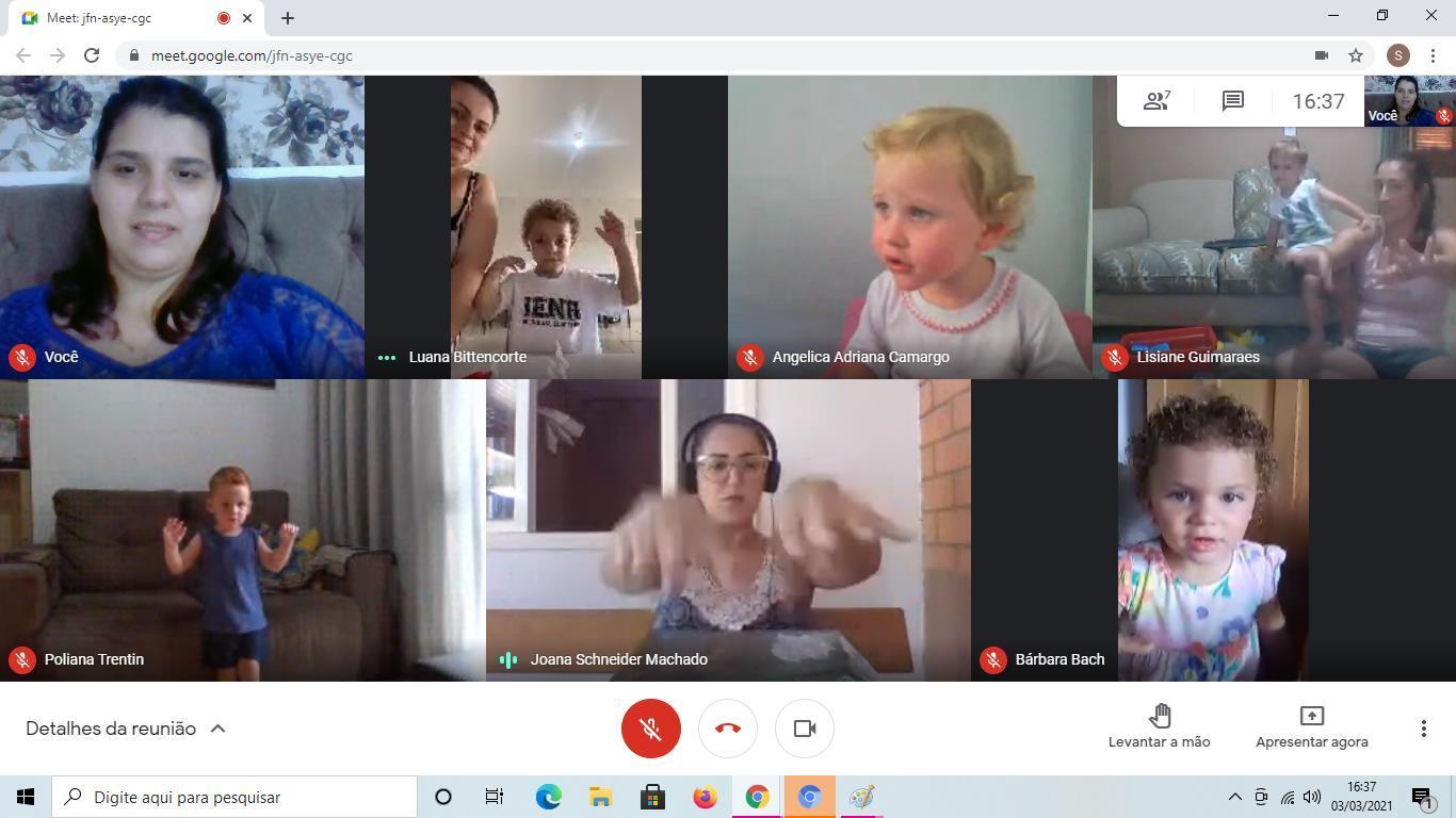 Crianças da Educação Infantil participam de encontros síncronos