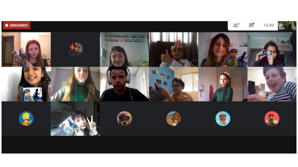 Estudantes participam de Sarau Literário on-line