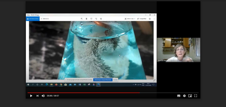 Experiências e lembranças na aula on-line química do Ensino Médio
