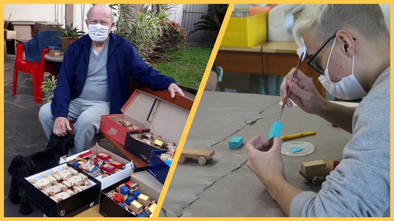 Presentes para o Natal Solidário da IENH são produzidos pela Oficina do Brinquedo