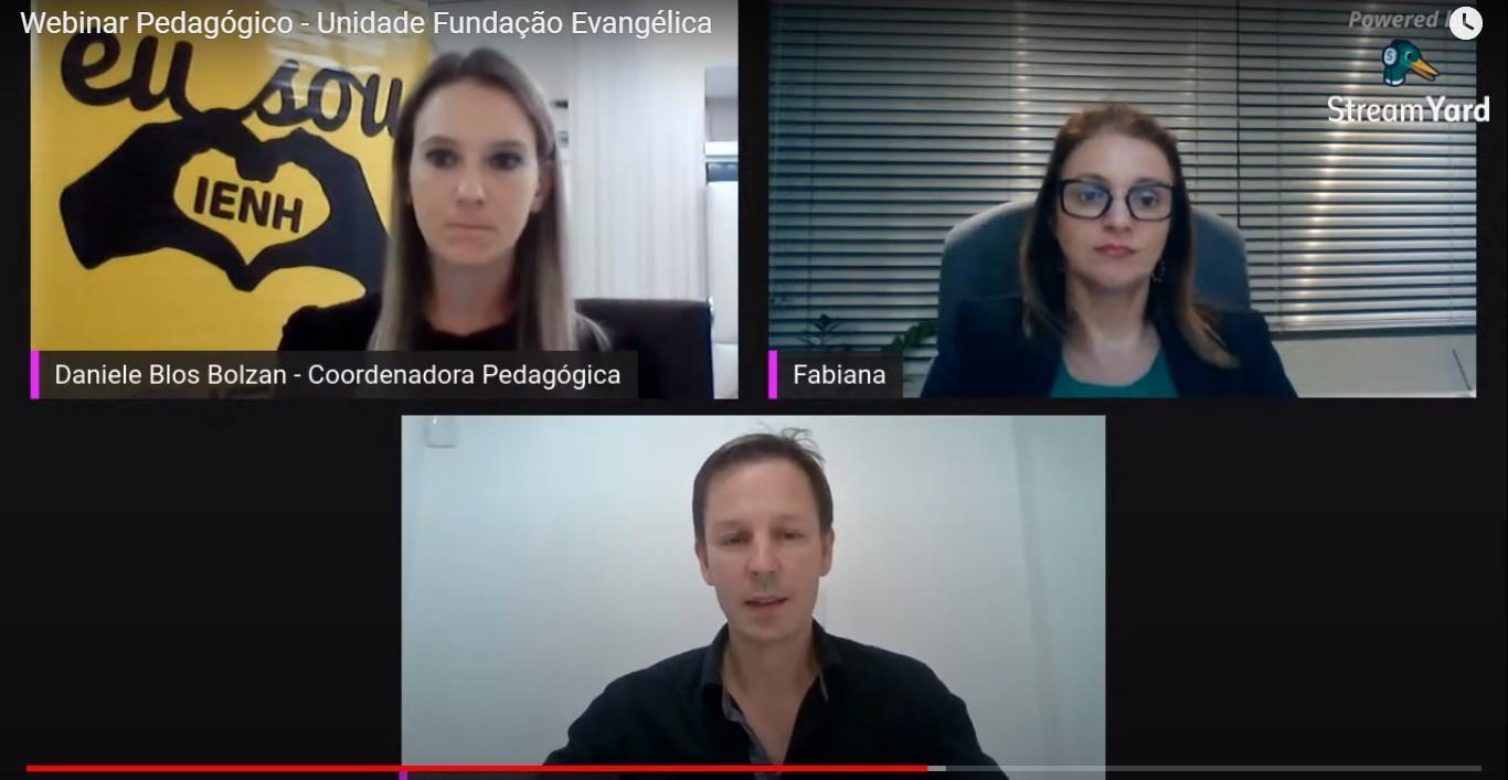 Unidade Fundação Evangélica promove webinar pedagógico para esclarecer dúvidas