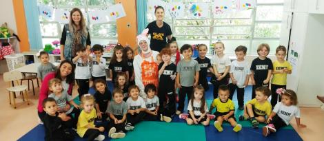 Coelha Lili visita os Níveis 3 da Educação Infantil