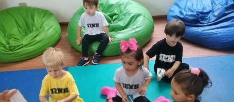 Crianças do Nível 2 da Educação Infantil exploram as novidades na Unidade Pindorama