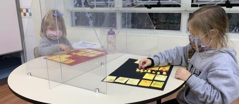 Crianças no Nível 3B da Unidade Pindorama estudam os animais selvagens