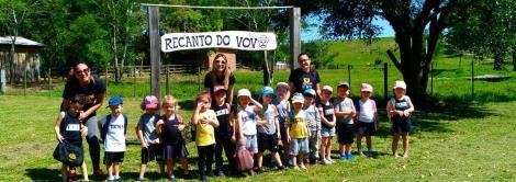 Educação Infantil da Unidade Pindorama realiza passeio no Sítio do Vovô
