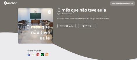 Estudantes criam podcast sobre o cotidiano escolar