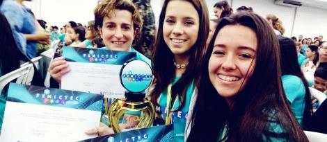 Estudantes da IENH conquistam prêmio de Projeto Destaque na V FEMICTEC