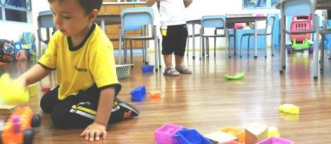 Estudantes da Educação Infantil na Unidade Pindorama