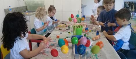 Páscoa é trabalhada com atividades lúdicas no Nível 4 da Educação Infantil