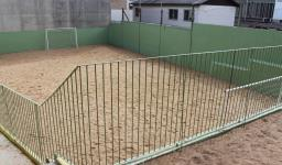 Quadra esportiva de areia